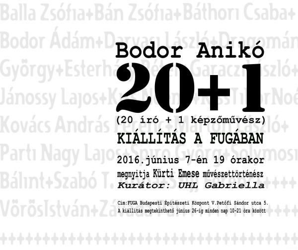 Meghívó  Bodor Anikó kiáll