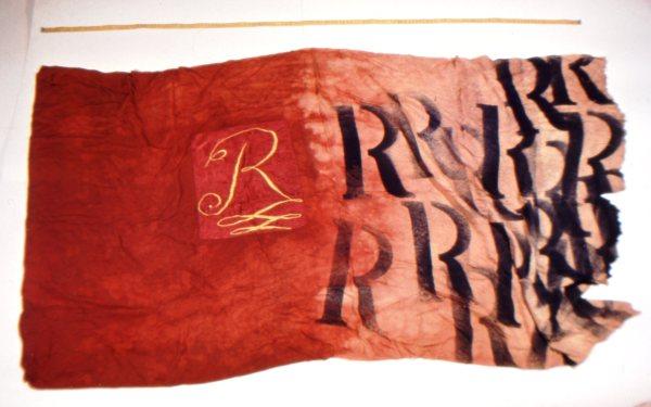 Az RRR zászló  / The RRR flag, tárgy / object, 1981