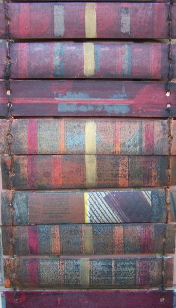 Magyar bélyeg / Hungarian Stamps, könyv, leporello, vegyes technika / bookArt, leporello, mixed media, 2001