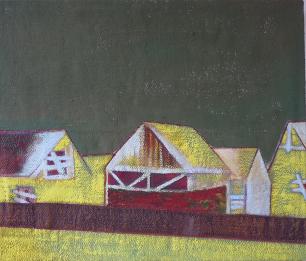 Csűrök / Barns, akril - vászon / acrylic on canvas, 2013