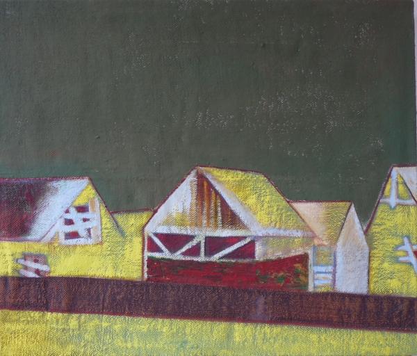 Csűrök / Barns, akril - vászon / acrylic on canvas, 2013