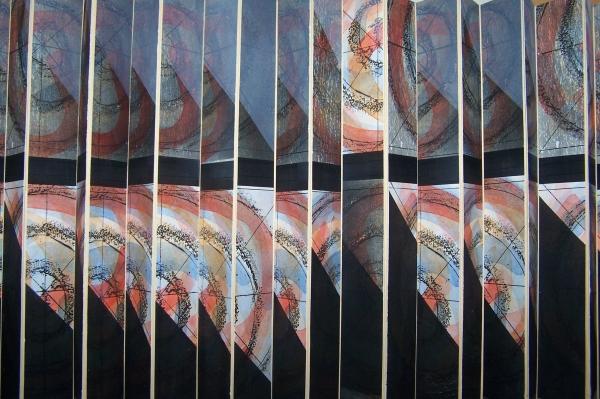 Tájkép / Landscape, vegyes technika, leporello / leporello, mixed media, 2010