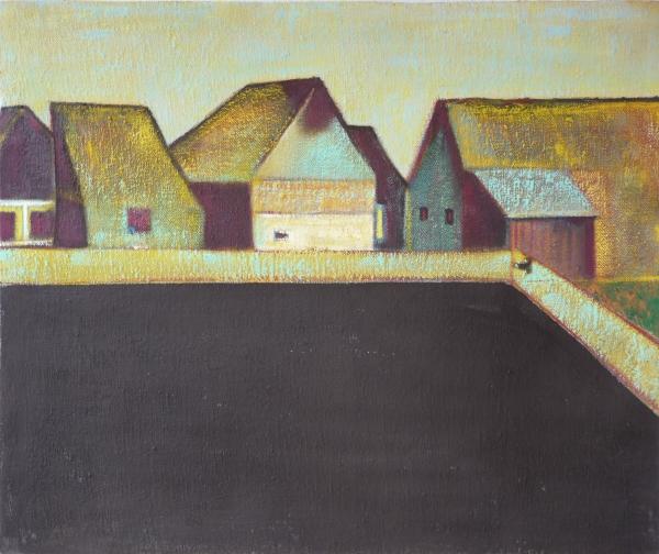 Csűrök I.  / Barns I, akril - vászon / acrylic on canvas, 2013