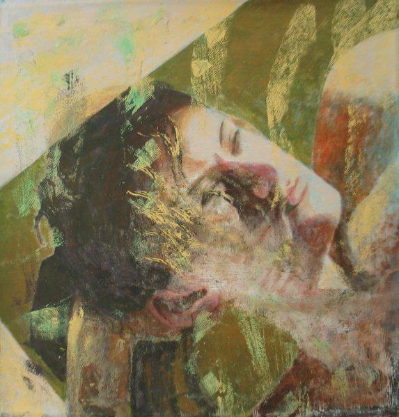 Fény-árnyék vonalak / Light - shadow lines, 2012, akril, vászon / acrylic on canvas