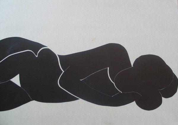 Fekete / Black, 2010, kollázs, papír / collage on paper