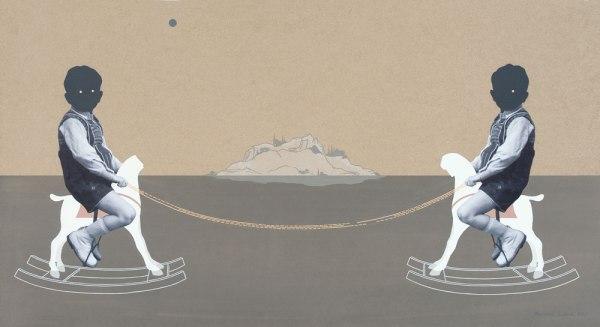 Kapcsolat ciklus- Ikrek / Relation Series - Twins  , 2013, vegyes technika / mixed media