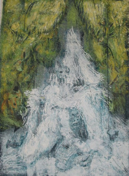 Kerka vízesés / Kerka Waterfall, 2013, akril, vászon / acrylic on canvas