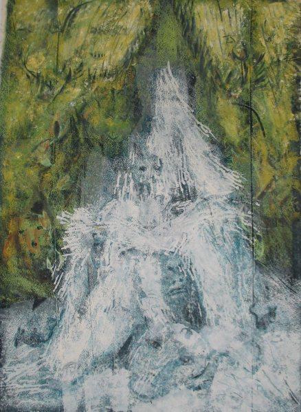 Kerka vízesés / Kerka Waterfall, 2013, akril, vászon / acrylic on canvas
