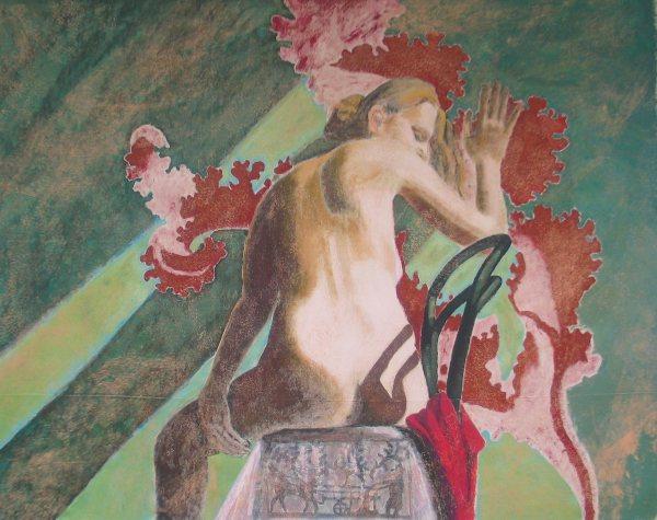 Piros algák / Red algas, 2010, akril, vászon / akrylic on canvas