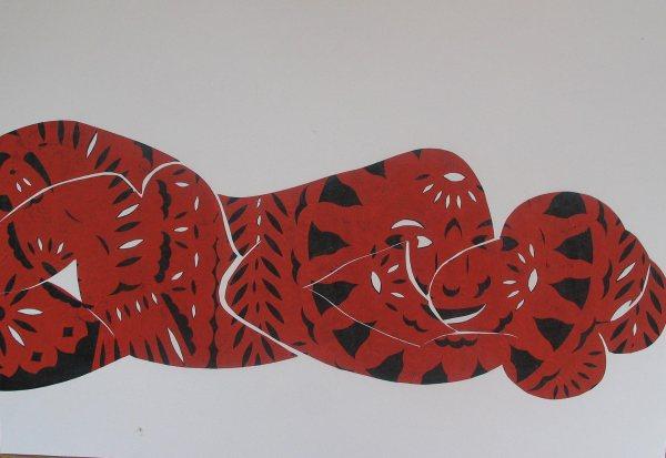 Piros-fekete / Red-Black, 2010, kollázs, papír / collage on paper