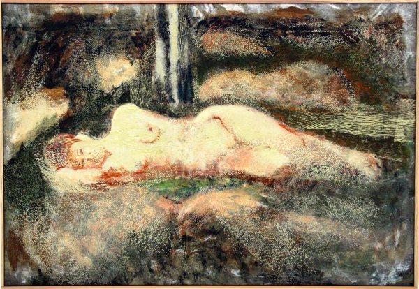 Roswitha az erdőben /Roswitha in the Forest ,2000, akril, vászon / acrylic on canvas