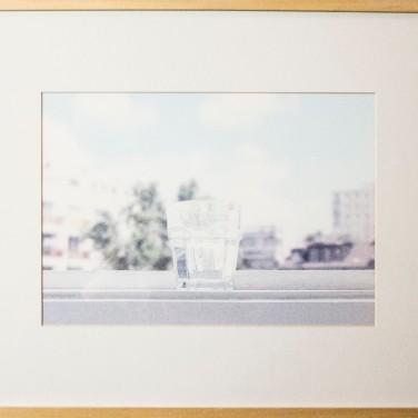 Erdélyi Gábor: VIZESPOHÁR, keretezett-paszpartuzott fotóprint üveg alatt, 20,5x29,5 cm (36,8x49,8 cm) 2005